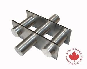 Industrial 6 Round Magnetic Hopper Grate With Rare Earth Magnets