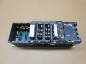 1 Plc Direct Logic 305 D3 08b 8 Slot Rack With F3 rtu D3 16tr F3 16ad D3 16na