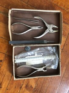 Optician Tools finding Sadler Brothers Lens Pliers Grobet Swss Vallorbe Hand Etc