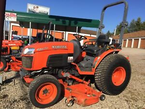 Kubota B2630 Hst 26 Hp Comes W 60 Belly Mower Hydrostatic Trans Runs Great