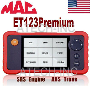 Mac Codescan Et123 Premium Code Reader Scan Tool Obd2 Abs Crp123 Launch Crp 123