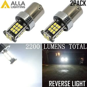 Alla Lighting 1156 6000k 30 Led Back Up Reverse Lights Backup Bulbs Lamps White