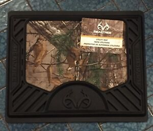 Realtree Xtra Camo Utility Floor Mat Molded 3d Logo Pvc Rubber 16x13 Single