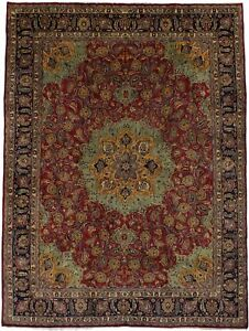Stunning Unusual Hand Knotted Vintage Persian Rug Oriental Area Carpet 9 4x12 7