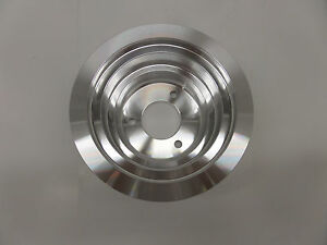 Bbc Chevy Lower Crank Pulley Triple Groove Long Nose Wayer Pump 8839