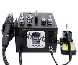 1pcs Dual Lcd 2 In 1 Atten At 8502d 700w Pro Hot Air Rework iron Soldering 220v