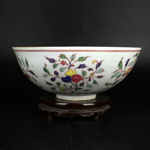 China Antique Eggshell Porcelain Ming Chenghua Doucai Fruit Peach Bowl