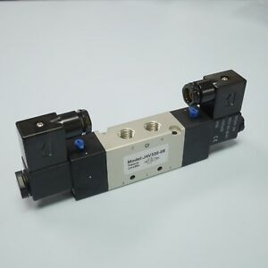 1 4 Pneumatic 5 2 Way Electric Control Solenoid Valve 4v320 08 24v Double Coil