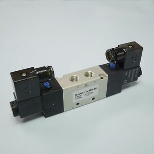 1 4 Pneumatic 5 2 Way Electric Control Solenoid Valve 4v320 08 12v Double Coil