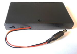 Rkeducation Switched Battery Box case With 2 1mm Dc Plug For Arduino Uk Seller