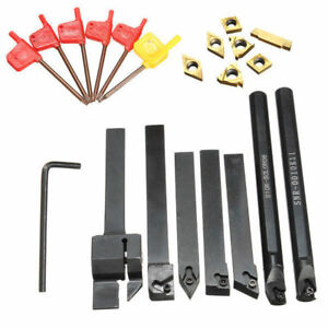 7pcs 10mm Lathe Turning Boring Bar Tool Holder With T8 Wrenches And Carbide Inse