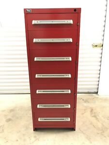 Stanley Vidmar 7 Drawer Cabinet Eye Height Model Rp3502al
