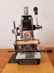 Kingsley Machine Model M50 With Accessories Hot Foil Stamping