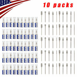 100pcs 10packs Tungsten Carbide Steel Dental Burs Burrs Lab Tooth Drill 2 35mm