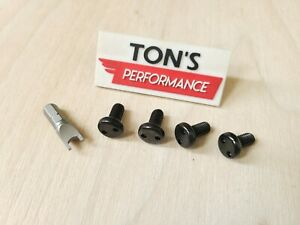 Mercedes Security Anti Theft Auto License Plate Screws Stainless Steel Bolts Bk