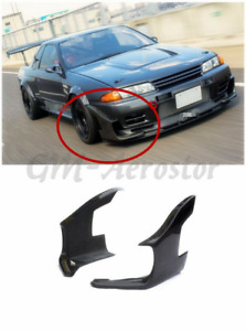 Carbon Fibe Front Bumper Gd Style Stingray Canards For 89 94 Skyline R32 Gtr