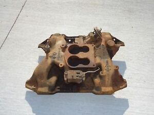 Factory Mopar Cast Iron 4 barrel Intake Manifold 3751728 1971 Ch