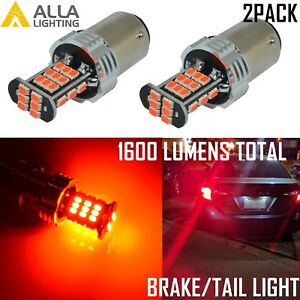 Alla Lighting 1157 3020 30 Led Brake Stop Tail Lights Bulbs Lamps Vivid Red 2pcs