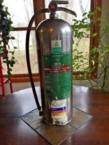 Vintage Hoosier Water Fire Extinguisher Empty Untested Elkhart Brass Mfg Co