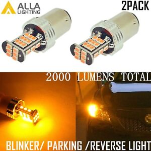 Alla Lighting 1157 30 Led Turn Signal Light Blinker Bulb Lamp Amber Yellow 2pcs