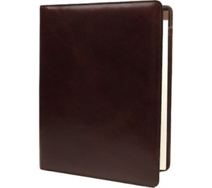 Bosca Old Leather 8 5 X 11 Legal Pad Cover In Dark Brown