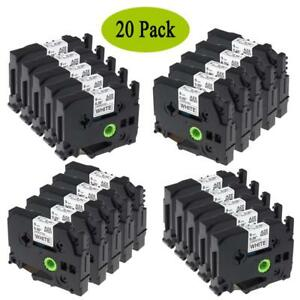 Tze 221 Tz221 Compatible For Brother P touch Label Tape Office Cassette 9mm 20pk