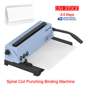34 Square Holes Spiral Coil Calendar Binding Punching Machine Carbide Blades Usa
