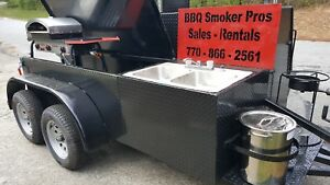 Pizza Oven Bbq Smoker Grill Sink Trailer Food Truck Mobile Catering Concession