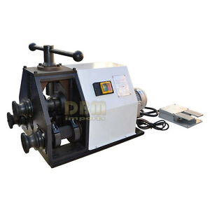 Electric Round Square Tube Pipe Bender Ring Roller 110 Volt