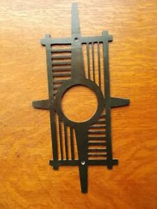 Vintage Retro Mid Century Mid Mod Doorknob Or Deadbolt Door Plate Doorplate