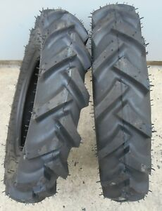 Two 6 14 R 1 g1 Lug Tires Tubes Compact Farm Tractors Heavy Duty 6 Ply Rated
