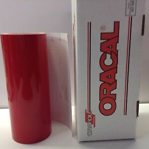 Oracal 651 1 Roll 12 X 10 Feet Red 031 Vinyl For Craft Sign Cutter
