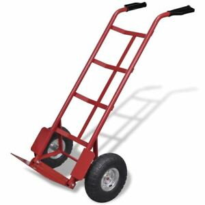 Steel Hand Truck Dolly Utility Cart Foldable Heavy Duty 441lb Capacity Garage