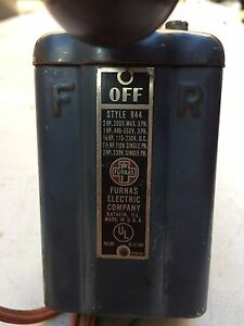 Furnas Electric Company Drum Switch Style R44 Forward Off And Reverse