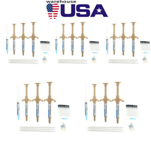 5 Dental Paste Adhesive Bonding Tooth Self Curing Composite Resin Kit Syringes