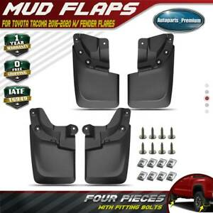 4x Mud Flaps Splash Guard For 2016 2018 Toyota Tacoma With Fender Flares Molded