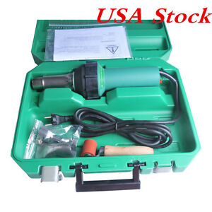 Usa Stock 1600w 110v Easy Grip Hand Held Plastic Hot Air Welding Gun With Nozzle