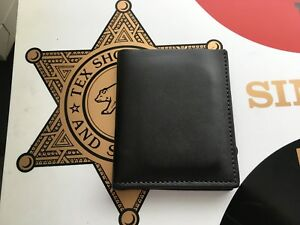 Beautiful Tex Shoemaker Police Id Wallet And Badge Holder 7 Point Star Sheriff