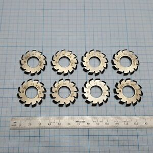 Involute Gear Cutter Set M0 7 Pa20 Hss 1 8 Bore Dia 13mm Spline Modulfr ser