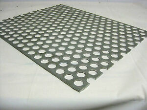 Perforated Aluminum Sheet 125 Gauge 36 x 36 3 4 Hole 1 Stagger 3003h14