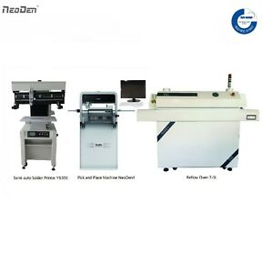 Neoden Cheap Smt Line desktop Pick And Place Machine Neoden4 solder Printer oven