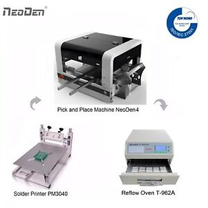 Cheap Smt Line Small Smt Pick And Place Machine Neoden4 2 Cameras 40 Feeders