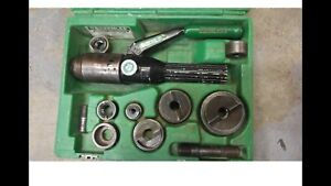 Greenlee 7806sb 3 4 2 Hydraulic Knockout Quick Draw Slugbuster Punch Driver Set