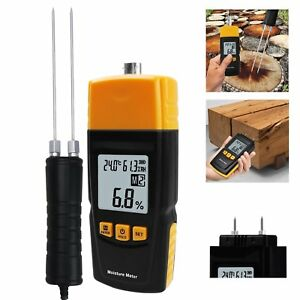 2 70 Wood Moisture Meter Temperature Humidity Tester Measure Bamboo