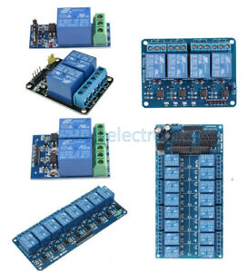12v 1 2 4 8 16 Channel Relay Module With Optocoupler For Avr Dsp Arm Arduino Pic