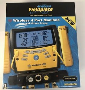 Fieldpiece Sman460 Wireless Digital 4 port Refrigerant Manifold micron Gauge