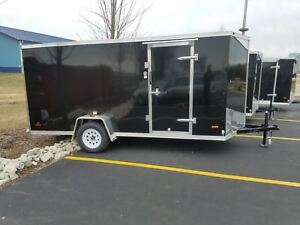 6x14 2018 V nose Enclosed Motorcycle Cargo Trailer 6x12 And 6x10 Available