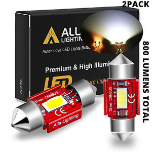 Alla Lighting Led Dome Map Interior Light Bulbs Trunk Cargo Lamps White De3175
