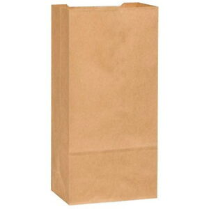 Novolex Duro Tiger Flat Bottom Paper Grocery Bag Kraft 25 Lb 500 pack
