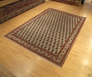 7 X 10 Handmade Antique Persian Oriental Wool Rug Fine Knots Great Condition